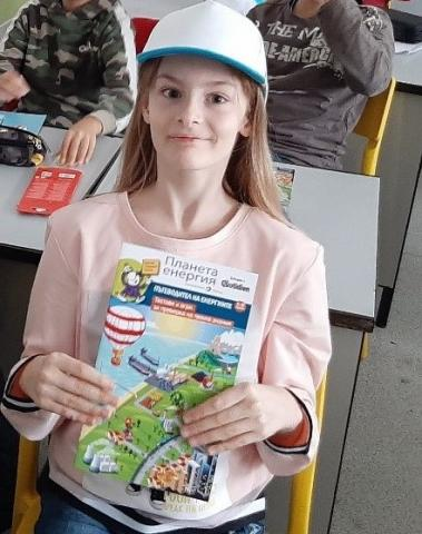 A pupil with a brochure