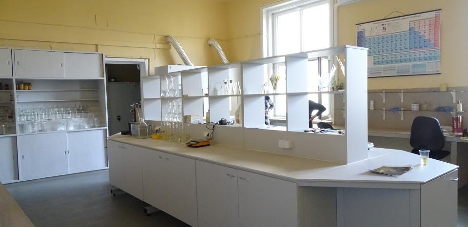 The renovated chemical laboratory